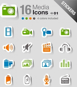 simple vector icon stickers