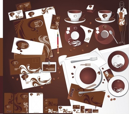 coffee identity sets dark brown decor