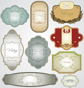 simple vintage labels set vector
