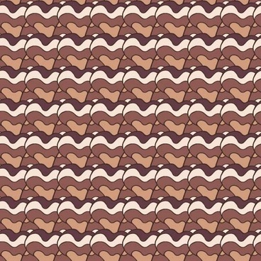 simple waves seamless pattern vector