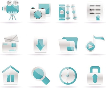 ui icons templates shiny modern blue white decor