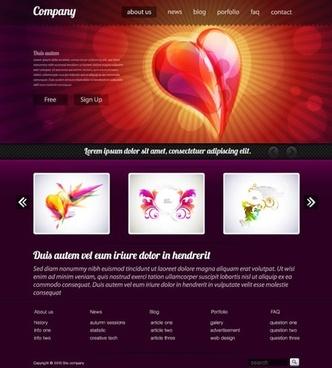 simple web design template vector