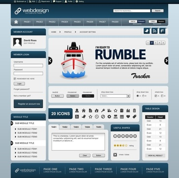 web site template elegant modern flat decor