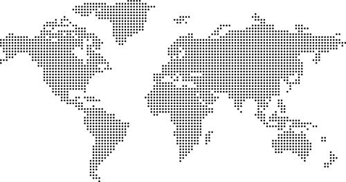 simple world maps vector