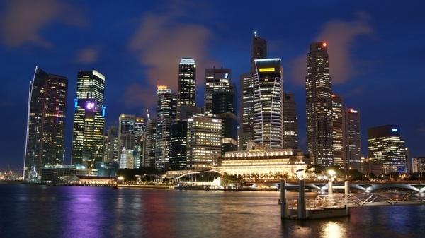 singapore night evening