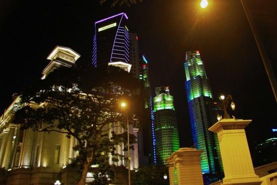 singapore night seaside