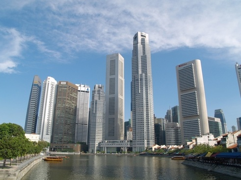 singapore skyline skyscrapers