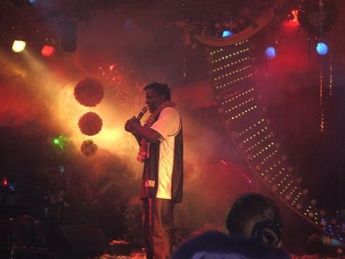 singer at nightclub