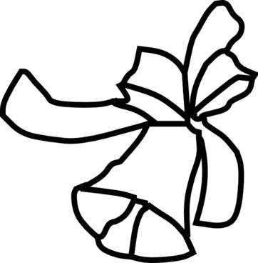 Single Bell Outline clip art