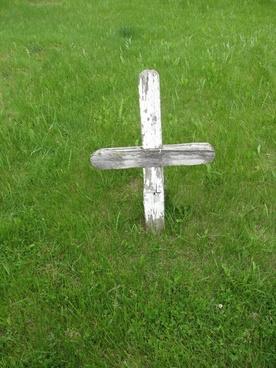 single wooden cross