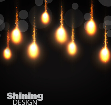 sining light bulb vector background
