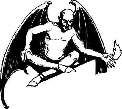 Sitting Devil clip art