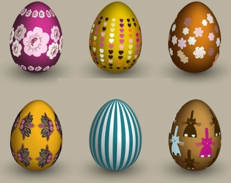 six eggs vector