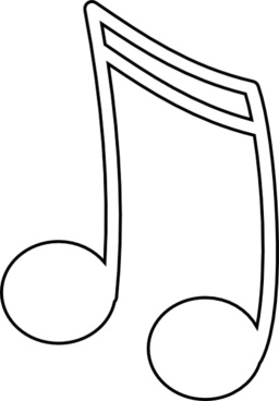 Sixteenth Notes, Joined In A Pair clip art