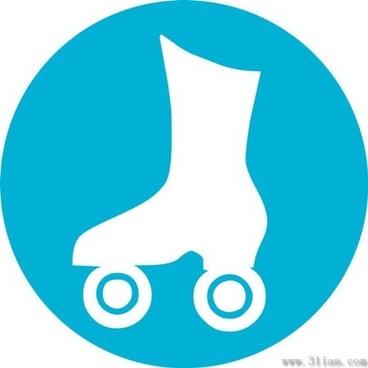 skating icon vector