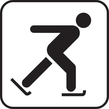Skating On Ice clip art