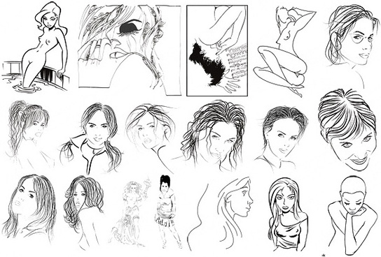 sketch style character vector