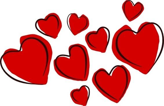 Sketchy Hearts clip art