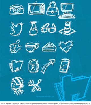 sketchy icon vectors