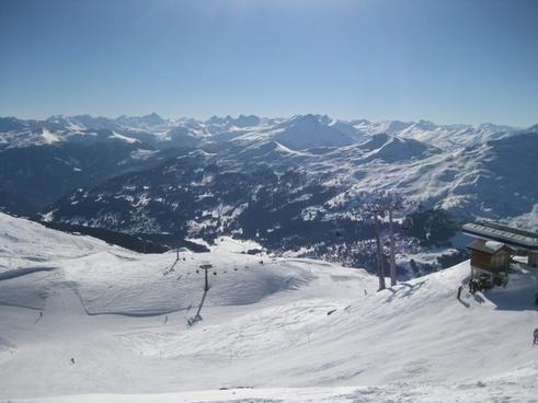 ski area winter chair lift