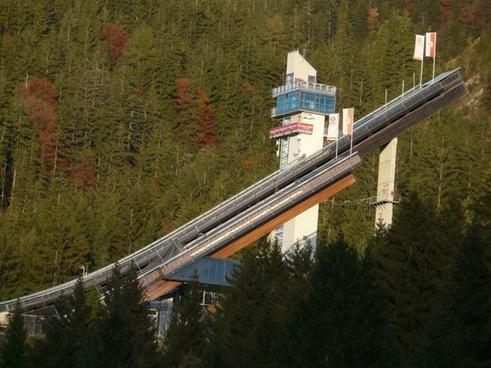 ski jump sports center ski jumping-sport