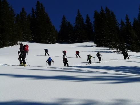 ski tour winter hike hike