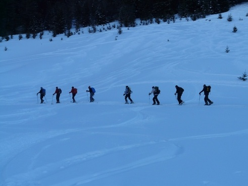 ski tour winter hike hike