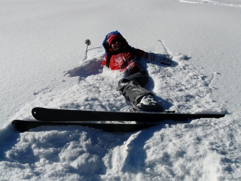 skiers relaxation relax