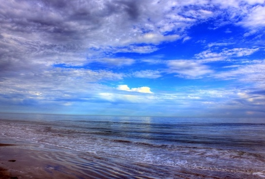 skies over the gulf at galveston island state park texas