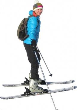 skiing skier ski