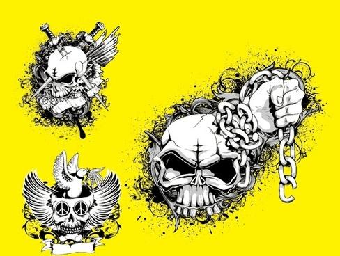 skull and crossbones tshirt pattern vector