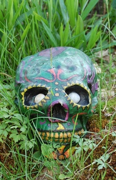 skull green skull garden