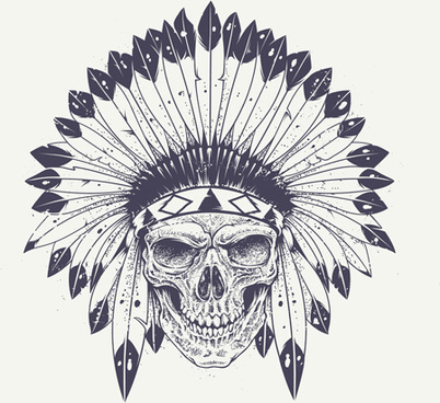 skull t shirt prints vector
