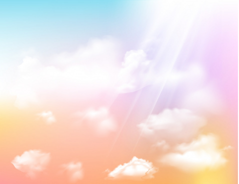 sky background modern bright design rays clouds decor