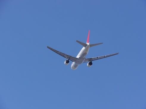 sky blue airplane