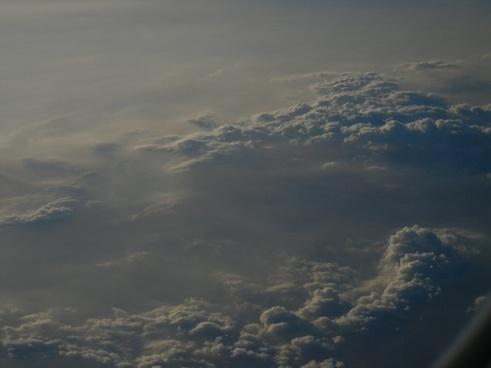 sky clouds evening