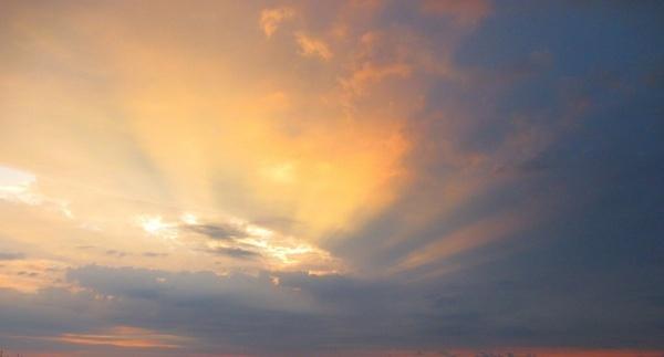sky clouds evening sky