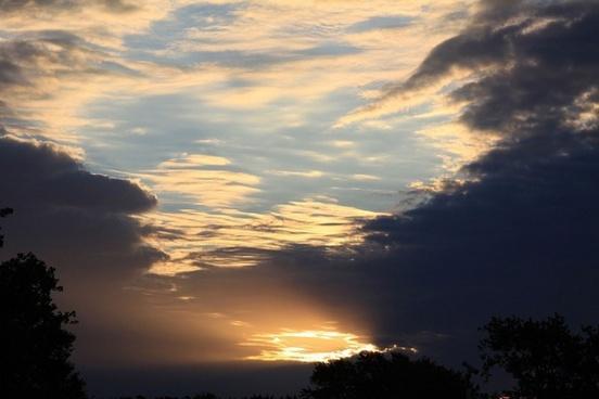 sky clouds storm