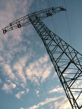 sky electricity pylon electricity