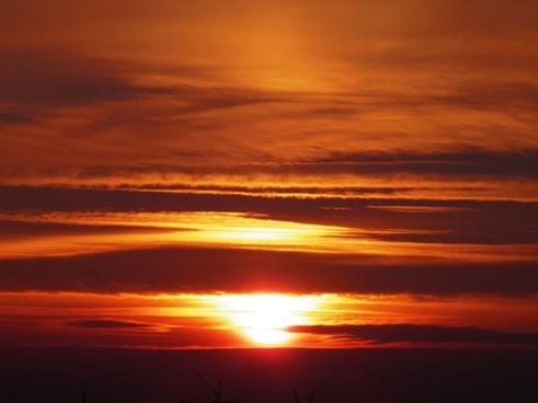 sky evening sky sunset