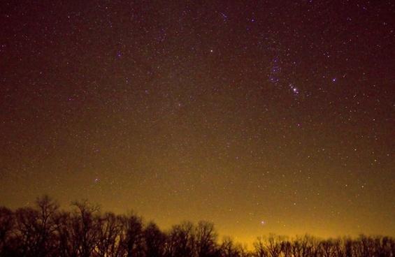 sky full of stars at hogback prairie wisconsin