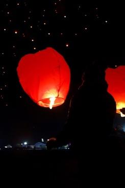sky lantern released