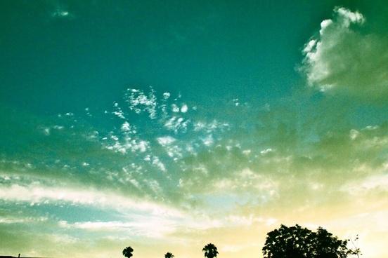 sky open sky blue sky