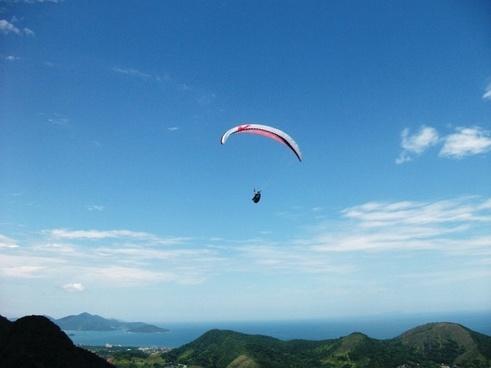 sky paragliding landscape
