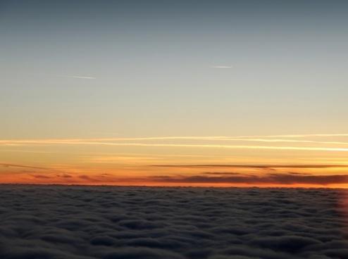 sky sunset cloud