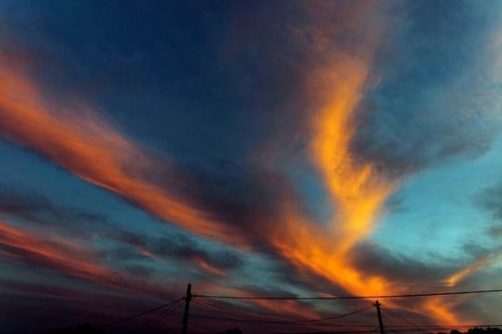 sky sunset vivid