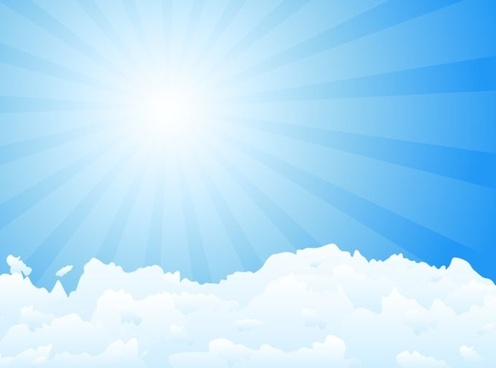 sunshine sky background bright vivid decor sunbeam icon