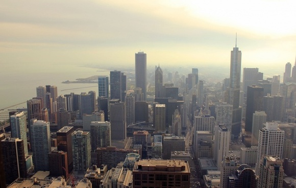 sky view from signature room in chicago illinois