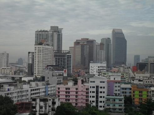 skyline bangkok thailand