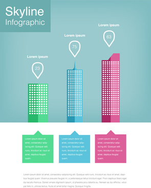 skyline infographic vector design